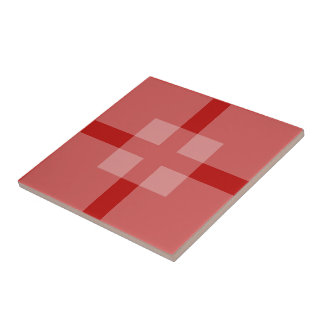 Belägga med tegel - överlappa kvadrerar skuggar in liten kakelplatta