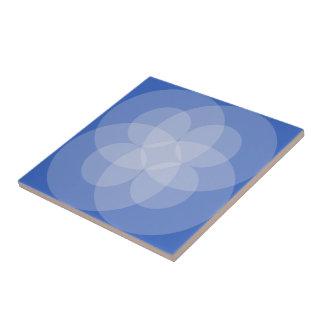 Belägga med tegel - skära cirklar skuggar in av liten kakelplatta