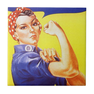 Belägga med tegel vintage Rosie den Iconic Retro Kakelplatta