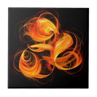Belägger med tegel abstrakt konst för fireballen kakelplatta