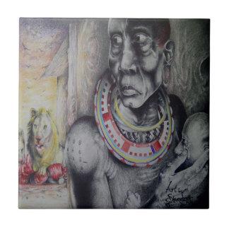 Belägger med tegel av Hakuna Matata med lejon och Keramiska Plattor