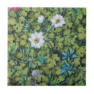 Belägger med tegel den blom- tapeten för kakelplatta