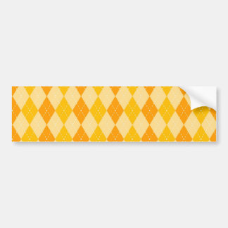 Belägger med tegel den gula och orange Argyle Bildekal