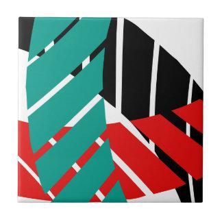 Belägger med tegel det tidlösa abstrakt mönster kakelplatta