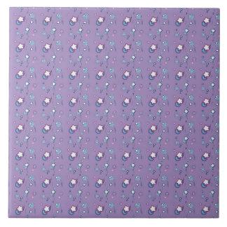 Belägger med tegel pastellfärgade purpurfärgade kakelplatta