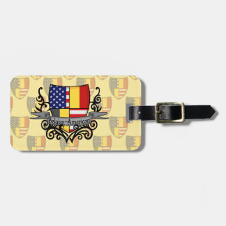 Belgare-Amerikanen skyddar flagga Bagagebricka