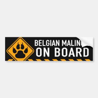 Belgare Malinois ombord Bildekal