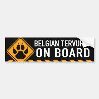 Belgare Tervuren ombord Bildekal