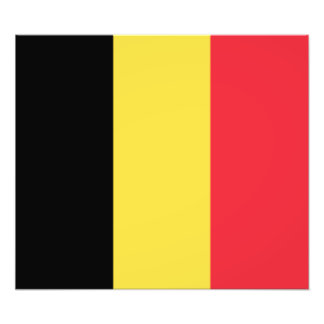 Belgien - belgisk flagga fotografiska tryck