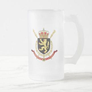 Belgien emblem frostat ölglas