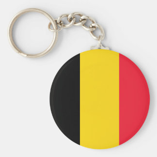 Belgien flagga rund nyckelring