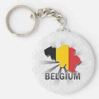 Belgien flaggakarta 2,0 rund nyckelring