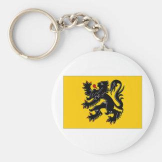 Belgien Flemish regionflagga Rund Nyckelring