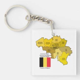 Belgien karta och flagga