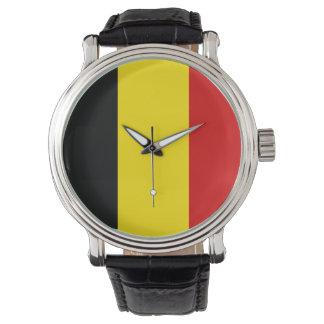 Belgien klocka - flagga av Belgien