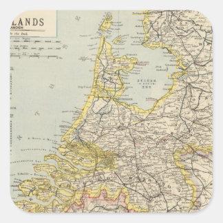 Belgien Nederländerna 2 Fyrkantigt Klistermärke
