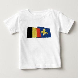 Belgien och region av Bryssel som vinkar flaggor Tröja