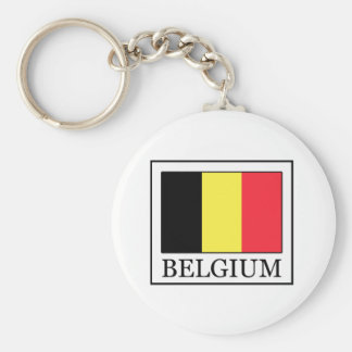 Belgien Rund Nyckelring