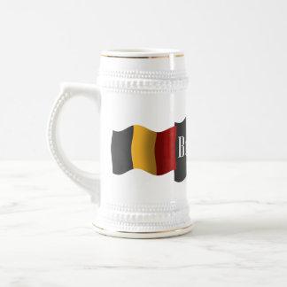Belgien som vinkar flagga sejdel