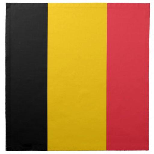 Belgisk flagga på den MoJo servetten Servetter