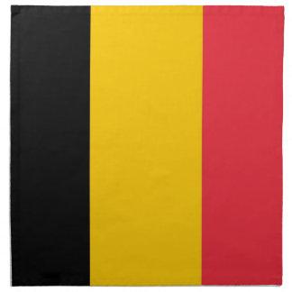 Belgisk flagga på den MoJo servetten Näsdukar