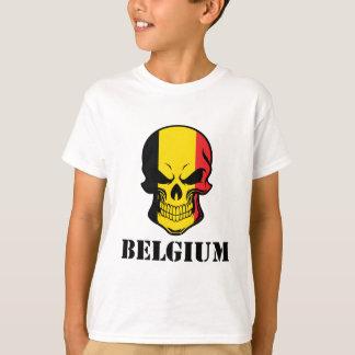 Belgisk flaggaskalle Belgien Tee