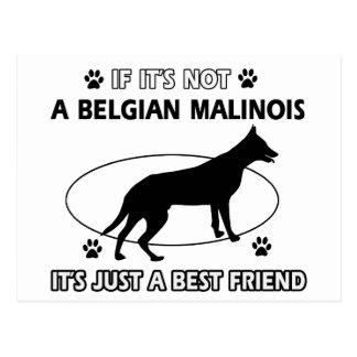 BELGISKA MALINOIS-bästa vändesigner Vykort