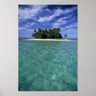 Belize, barriärrev, Unnamed ö eller cay. Poster