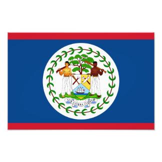 Belize - belizisk flagga fototryck