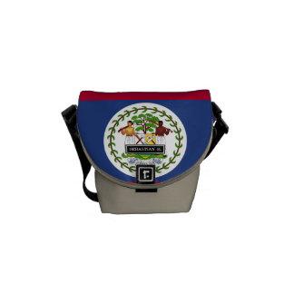 Belize flagga messenger bag