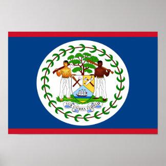 Belize flagga poster
