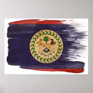 Belize flaggaaffischer poster