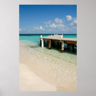 Belize karibiskt hav, Goff Caye. En liten ö Poster