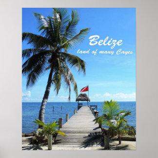 Belize - land av många Cayes Poster