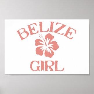 Belize rosaflicka poster