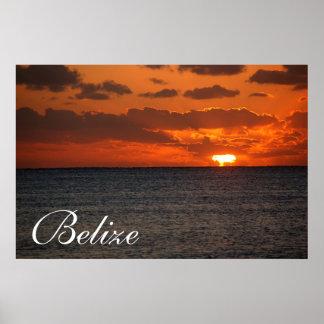 Belize soluppgång Poster2 Poster