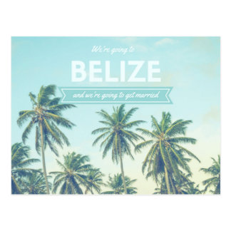 Belize som gifta sig den tropiska stranden, vykort