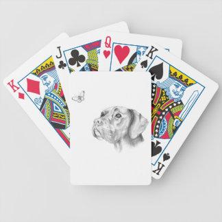 Bella en fjäril för hund för boxareLabrador Spelkort