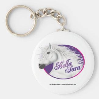 Bella Sara logotyp Rund Nyckelring