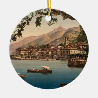 Bellagio mig, sjö Como, Lombardy, italienprydnad Rund Julgransprydnad I Keramik