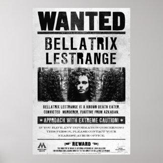 Bellatrix Lestrange önskad affisch