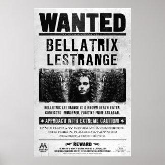 Bellatrix Lestrange önskad affisch Poster