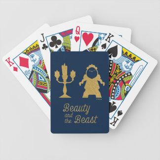Belle   Lumiere och Cogsworth Spelkort
