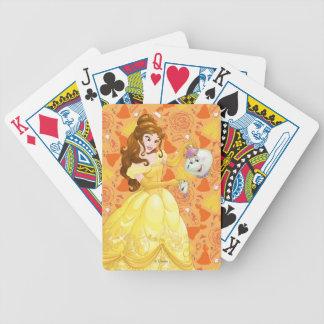 Belle med Fru Potts och chip Spelkort