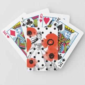 Belle med vallmor och polka dots spelkort