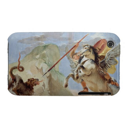 Bellerophon och att rida Pegasus som dräpar chimär iPhone 3 Case-Mate Case