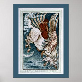 Bellerophon på Pegasus Poster