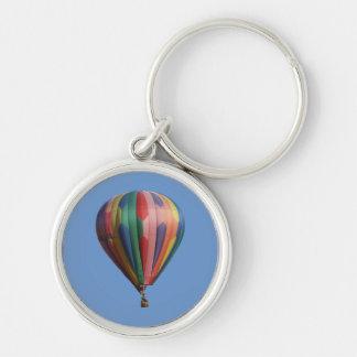 BelleStar hettluft Ballooon Keychain Rund Silverfärgad Nyckelring