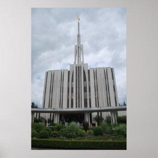 Bellevue Washington LDS tempel Poster
