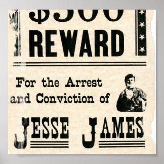 Belöning för Jesse James Posters